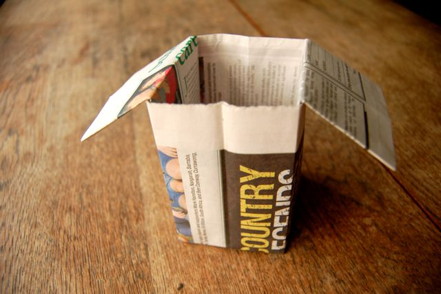 How to make origami newspaper seedling pots for greenies if you dont like the ears on your pot you can fold them into the pot when you fill it with soil it will keep them locked in place mightylinksfo